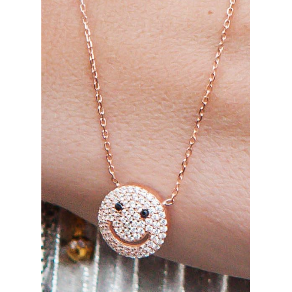 Fashion 2017 new arrive 925 sterling silver smiley face necklace fashion 2017 new arrive 925 sterling silver smiley face necklace with crystal jewelry zirconia micro pendant in chain necklaces from jewelry accessories aloadofball Image collections