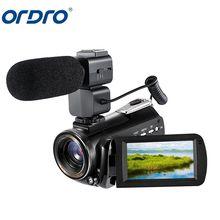 ORDRO AC3 Camcorders Professional Night Vision Digital Video Camera 4K WiFi 1080P Infrared Night Shot 30X Zoom Video Recorder tanie tanio Do użytku domowego Elektroniczna stabilizacja obrazu Obsługa sieci WiFi Przenośne 24000000 Sdhc 1 3 cali 301g-400g