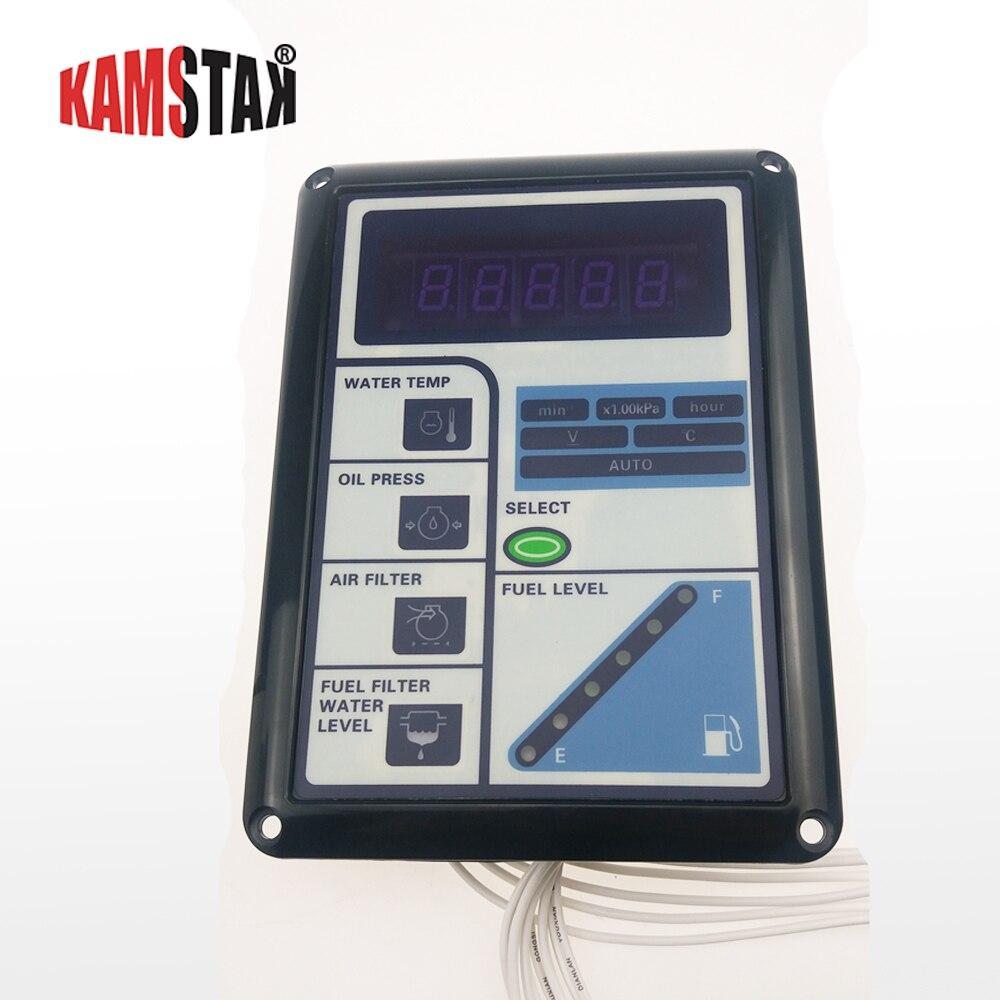 Contrôleur groupe électrogène diesel contrôle intelligent écran surveillance température de l'eau de pression d'huile tension etc.