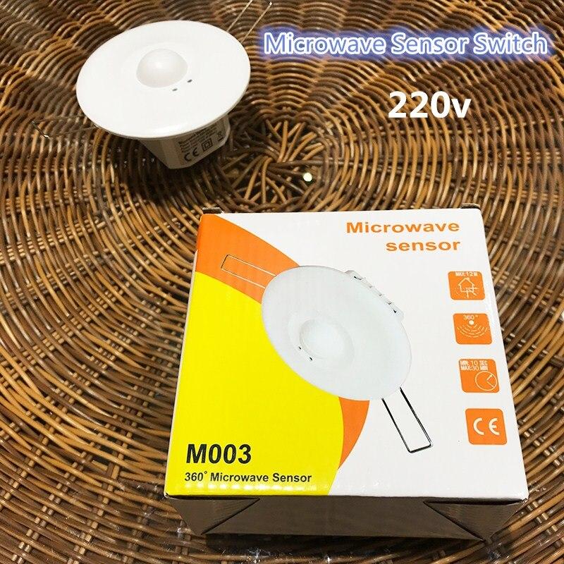New Microwave Motion Sensor Switch Doppler Rader wireless model for lighting 220v 360 degree 5.8GHZ CM090 HH css microwave motion sensor switch doppler radar wireless module for lighting 220v white
