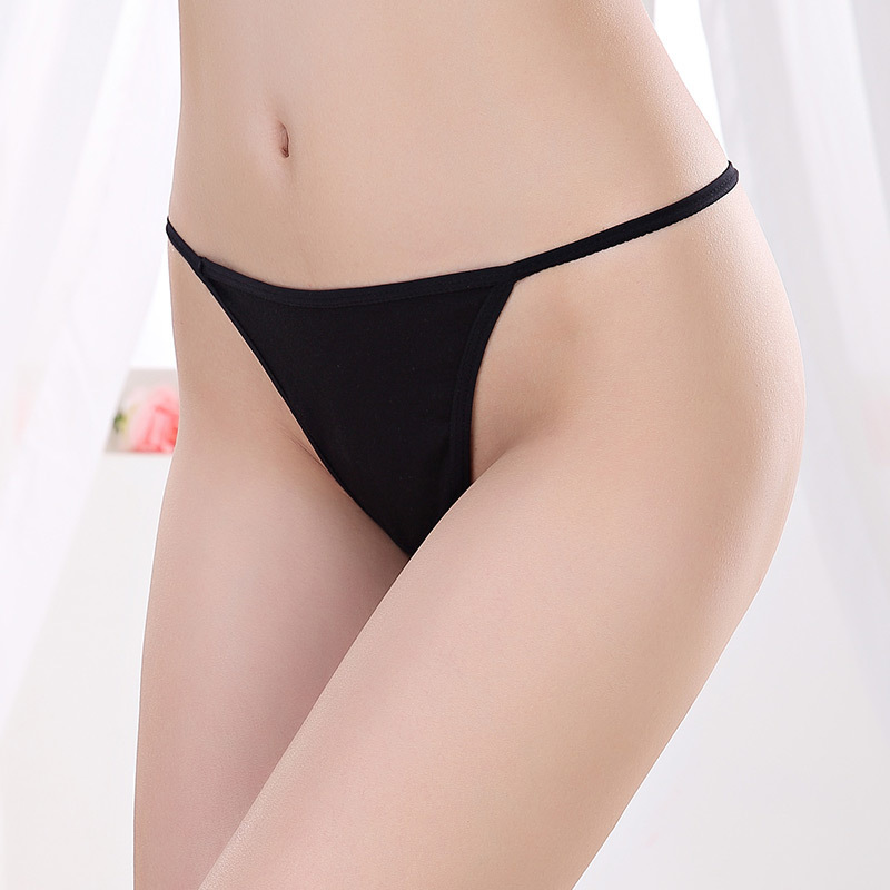 1pc Sexy Ladies Fashion G String T Back Women Underwear Simple Cotton Thong   Panties   Gifts