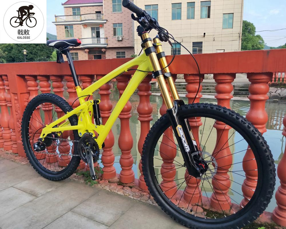 Full suspension bicycle  bike  20X110mm hubs   26er mountain bicycle  30 speed Hydraulic brakes