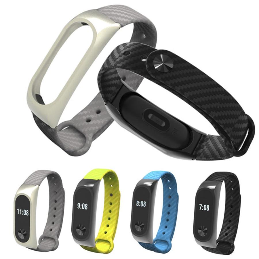 Xiaomi Band 2 Smart Wristband Ultra Thin Anti Scratch Screen Protector And Smart Wristband Silicone Carbon Wrist Fiber Strap Ban
