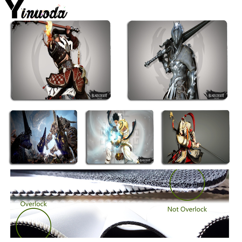 Yinuoda Top Quality Black Desert Computer Gaming Mousemats Size for 180x220x2mm and 250x290x2mm Rubber Mousemats