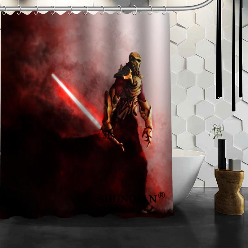 Star Wars Shower Curtain High Quality Bath screens Modern Polyester Fabric Customized bath curtain