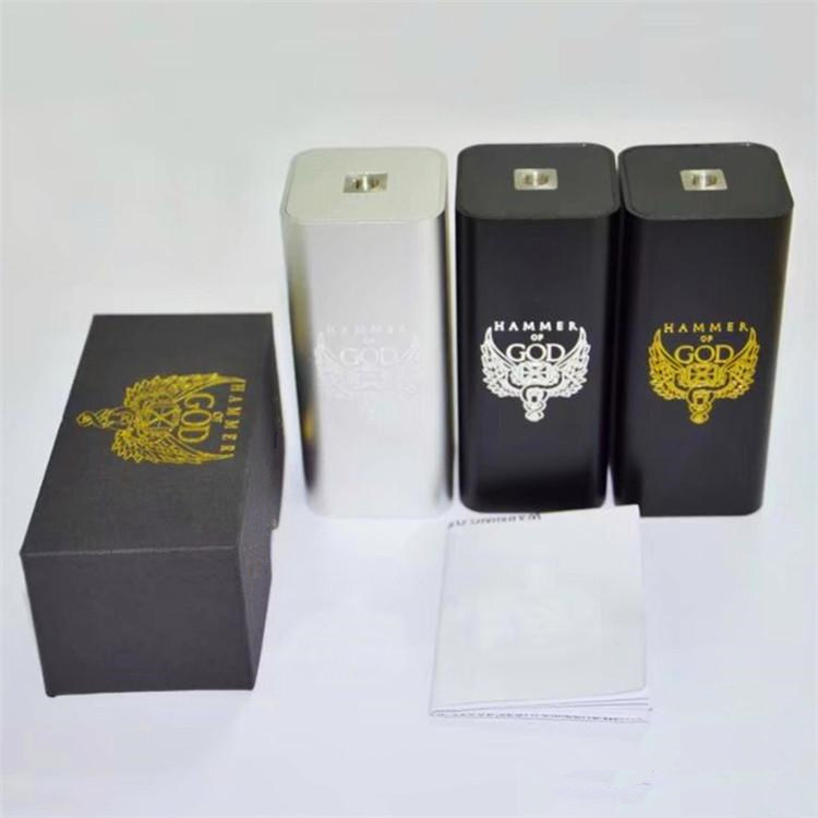 Hammer of God V3 Box Mod Electronic Cigarette Mechanical Mod fit 18650 Battery for Mech RDA RDTA RBA Atomizer Vape Vaporizer Kit