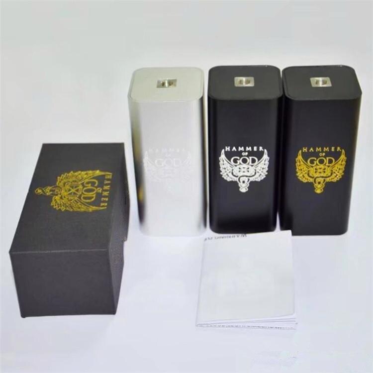 Marteau de dieu V3 boîte Mod Cigarette électronique mécanique Mod fit 18650 batterie pour Mech RDA RDTA RBA atomiseur Vape vaporisateur Kit