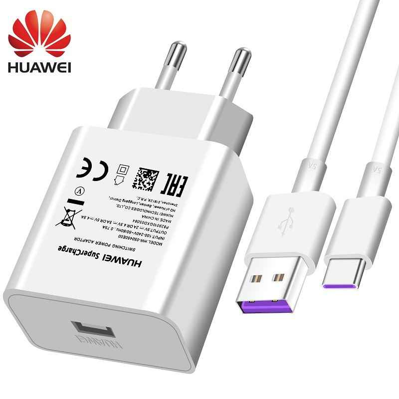 Huawei USB Charger ผนัง SuperCharge Fast 100% Original 5V4. 5A 5A USB ประเภท C สาย P20 Pro Lite P10 P9 Plus Mate10 Mate9