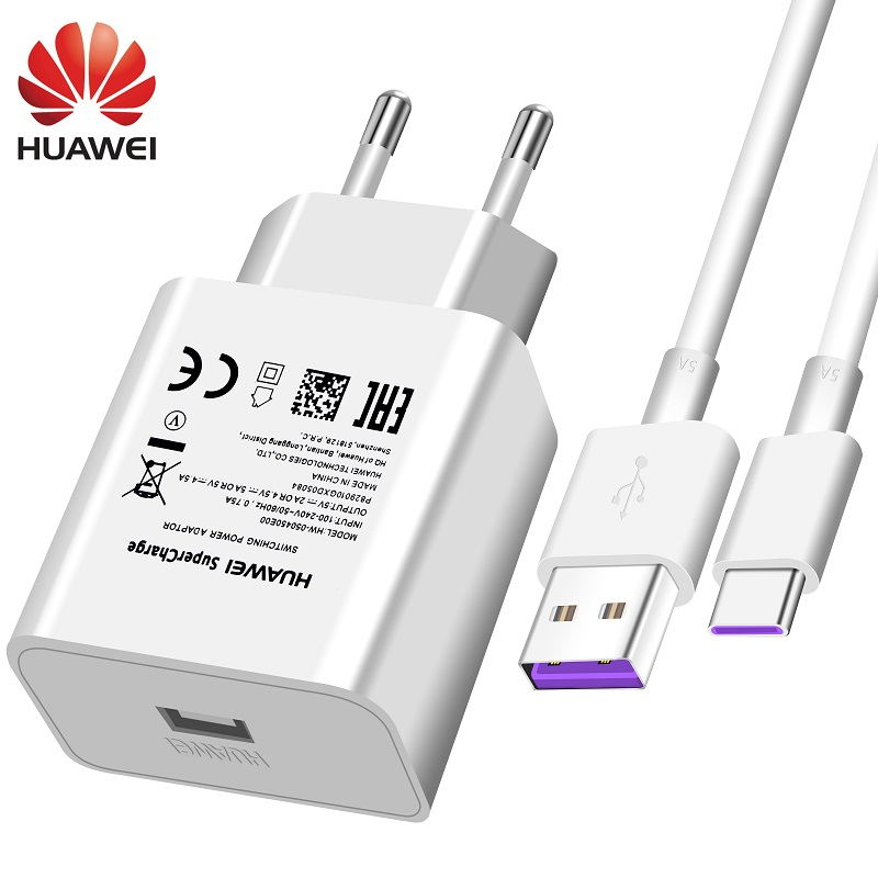 Huawei USB Charger Wall Travel SuperCharge Fast 100% Original 5V4.5A 5A USB Type C Cable P20 Pro Lite P10 P9 Plus Mate10 Mate9