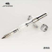 JINHAO 992 прозрачный белый цвет Спираль Круглый корпус офис студентов тонкий перьевая ручка