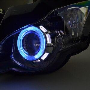 Image 5 - Özel montajlı projektör far mavi ve beyaz melek göz HID Honda için uygun CBR1000RR CBR1000 RR 2008 2011 08 09 10 11