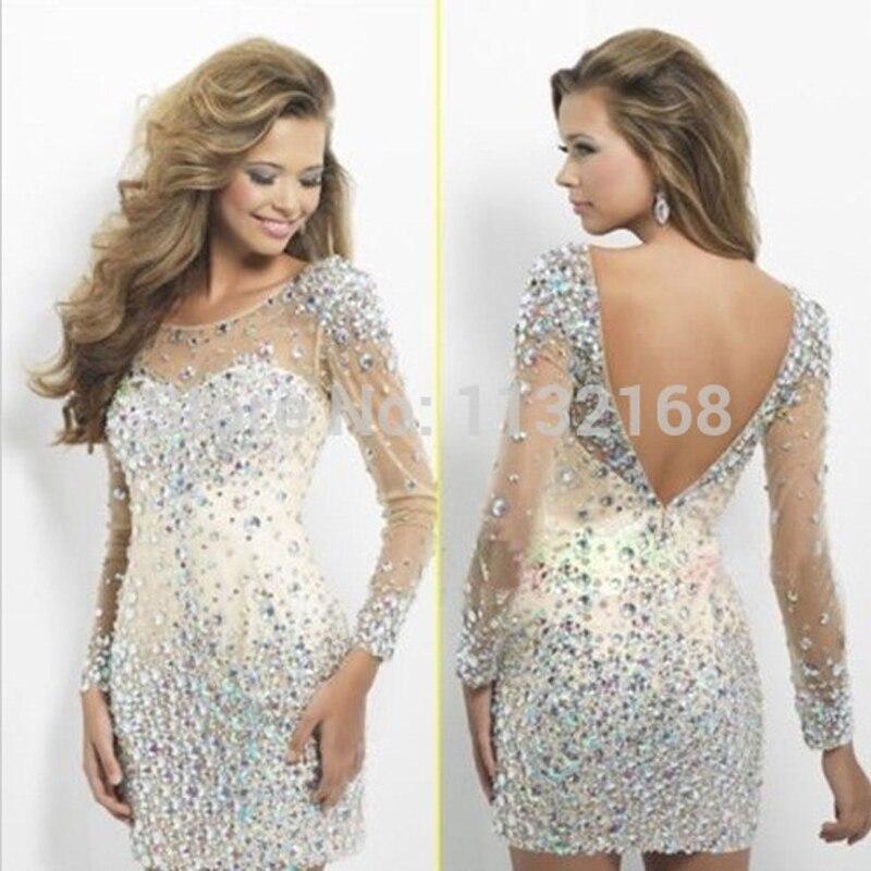 Mode Frauen Kleider Hm9015 Streng Modest Affordable Backless Spitze Mantel Long Sleeves Homecoming Kleider Cocktail Party Kleider Weddings & Events