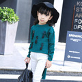 2016 children fall short long before after a long sleeved sweater pendant girls sweater in long T-shirt free shipping