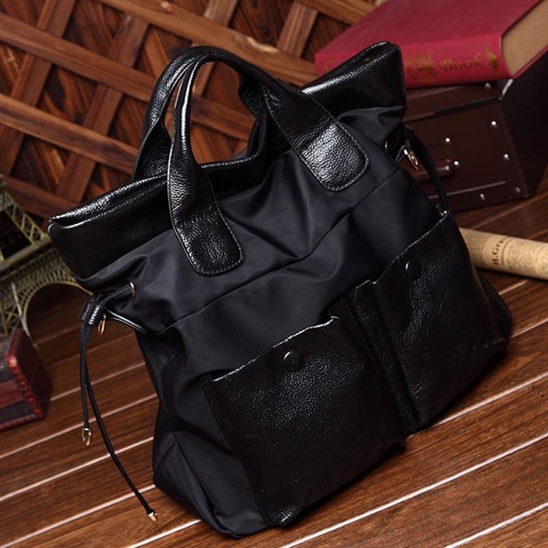 Women Handbag 2016 New Arrival Nylon and Leather Large Capacity Shoulder Crossbody Bags Tote Bolsas Feminina Borse Female new arrival fashion large capacity messenger bags handbag female 100