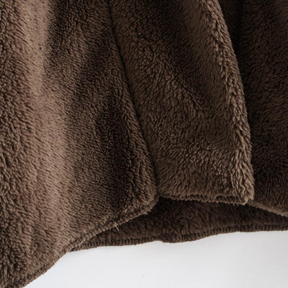 Women Hooded Coat Winter Warm Plush Pockets Cotton Coat Outwear Casual Hoodies Jacket Overcoat Top female outerwear 18