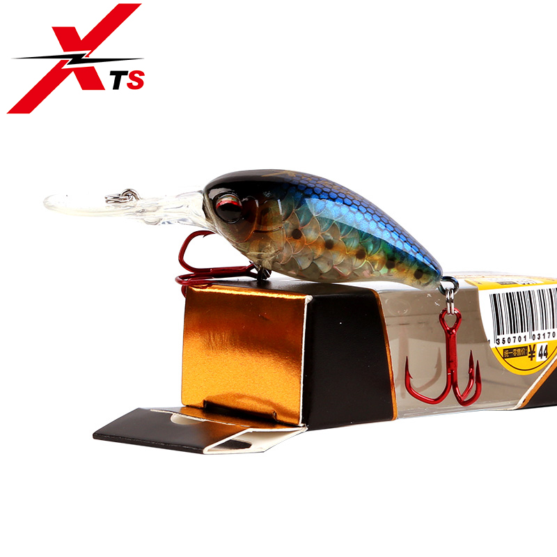 XTS 1PCS Small Minnow Fishing Lure Tackle Floating 50mm 10 5g 5 Colors Artificial Hard Bait Crankbait Iscas Fishing Lure 3507 in Fishing Lures from Sports Entertainment