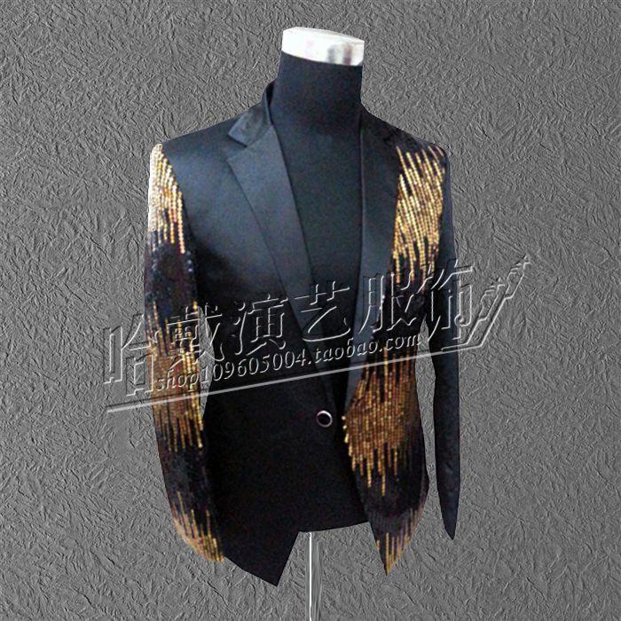 S 5XL 2017 Male paillette suit costume font b men s b font font b clothing