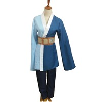 2018 Boruto Naruto Shippuden Mitsuki Blue Wigs Cosplay Costumes Kimono Suits For Halloween Party Blue Tops Pants Set