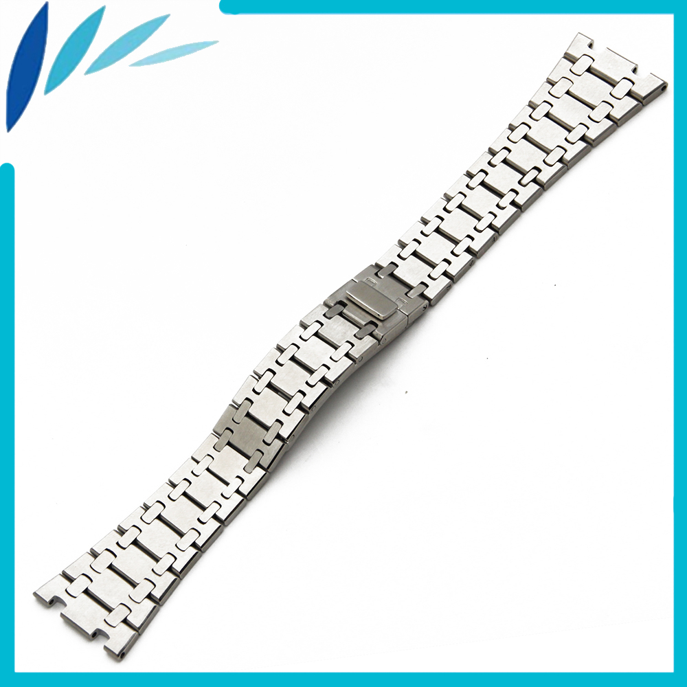 Stainless Steel Watch Band 23mm for AP Hidden Clasp Strap Loop Wrist Belt Bracelet Silver stylish 8 led blue light digit stainless steel bracelet wrist watch black 1 cr2016