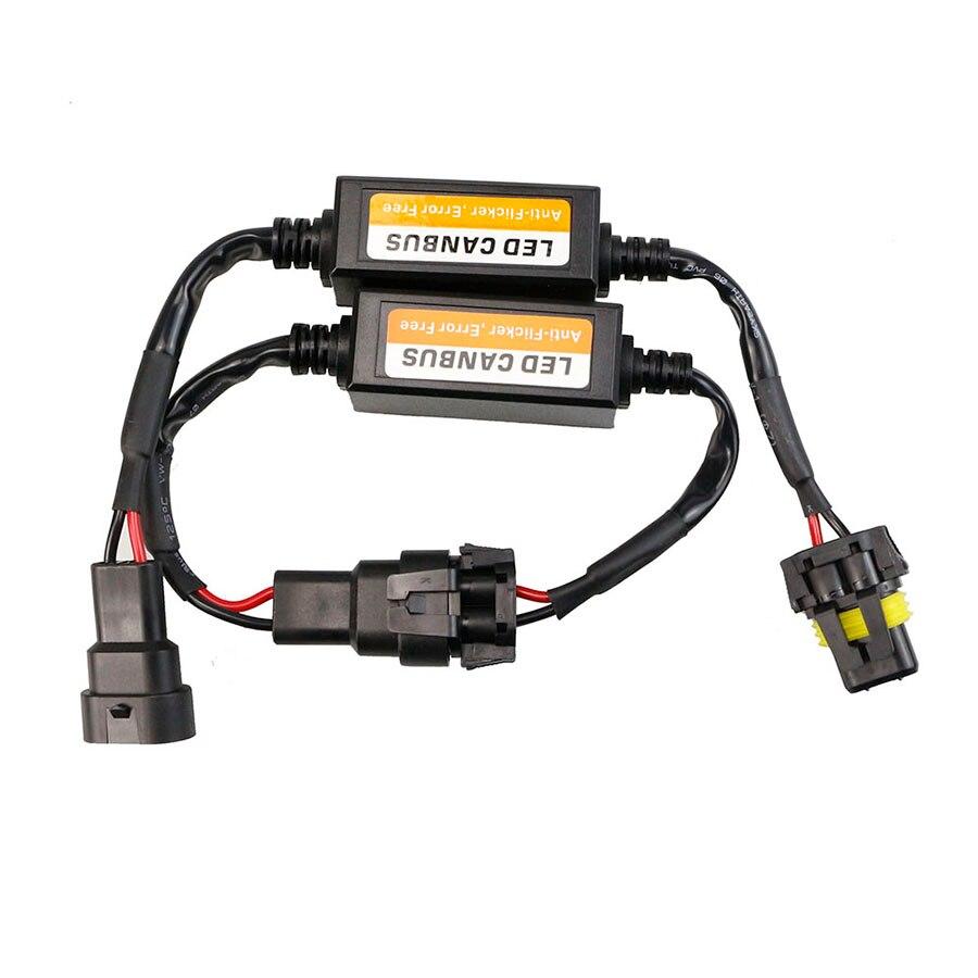CANBUS H15 H13 9004 9007 LED adaptateur de harnais EMC, sans erreur, pour phare LED H1 HB3 HB4 H4 H7 H11 H8