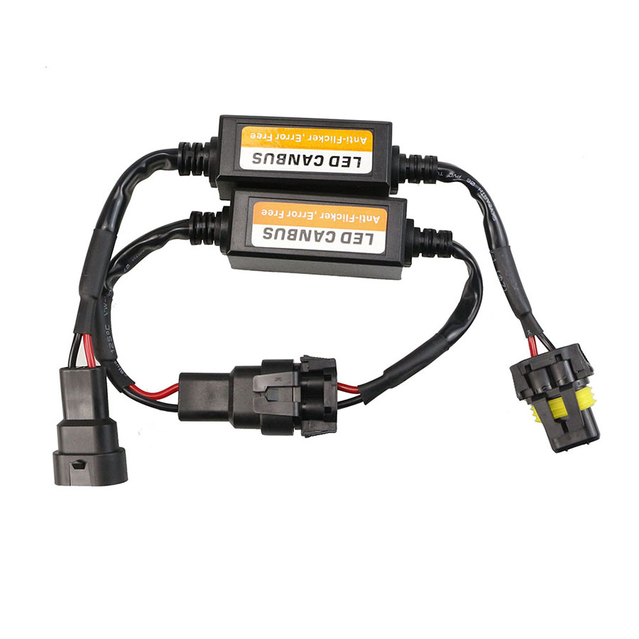 CANBUS H15 H13 9004 9007 LED מפענח שגיאת משלוח EMC הנגד Canbus לרתום מתאם עבור LED פנס H1 HB3 HB4 h4 H7 H11 H8