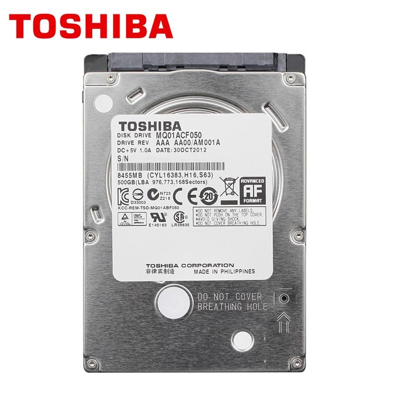 TOSHIBA Laptop Hard Drive Disk 500GB 500G Original Internal Notebook HDD HD 2.5 7200 RPM 16M Cache 7mm 6Gb/s SATA3 MQ01ACF050 hgst travelstar z5k500 hts545050a7e380 500gb 5400 rpm 8mb cache sata 3 0gb s 2 5 internal notebook hard drive bare drive