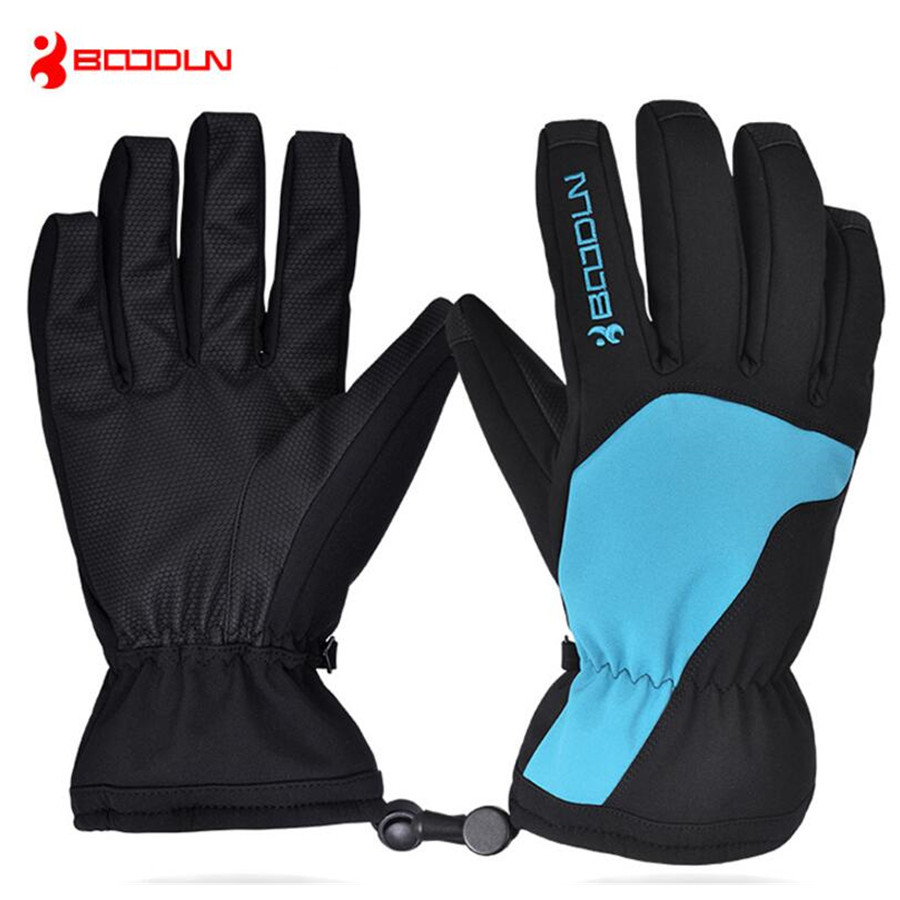 Boodun Waterproof Ski Gloves Men Women Warm Skiing Snowboard Gloves Snowmobile Motorcycle Riding Winter Outdoor Snow Gloves