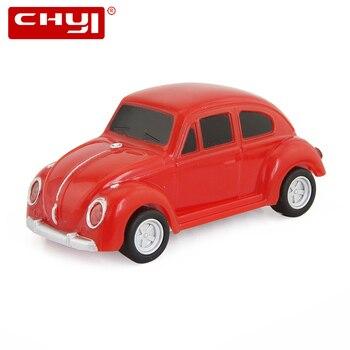 CHYI Mini Car USB Flash Drive Pen Drive VW Beetle Car Memory Stick Red Blue Black Yellow Purple Pendrive 4/8/16/32/64GB For Gift