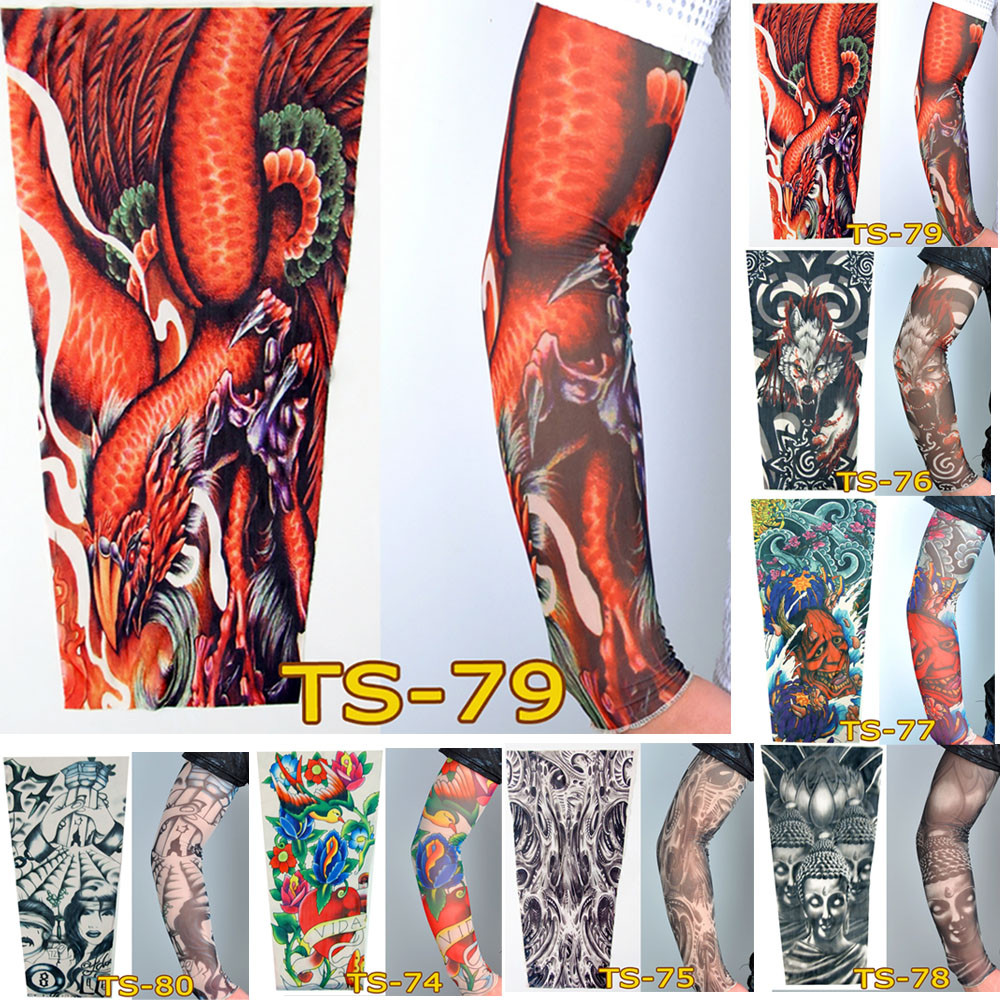 Unisex Fashion Nylon Temporary Tattoo Sleeve Arm Stockings New Quality Sunscreen Guantelete Gauntlet For Sun Protection	Mangas