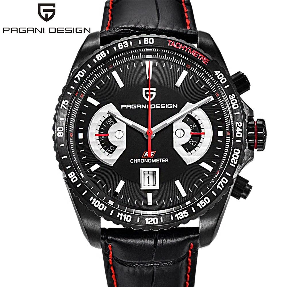 PAGANI DESIGN japon OS20 Movt montres à Quartz hommes sport calendrier étanche montres-bracelet horloge militaire Relogio masculino