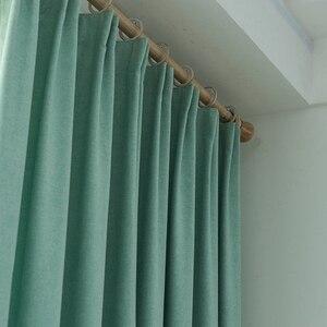 Image 1 - Cortinas opacas de Color turquesa para dormitorio, decoración de oficina, moderna, para ventana, sala de estar