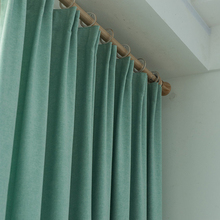 Turquoise ผ้าม่านสำหรับห้องนอนสีทึบสำนักงานตกแต่งม่านหน้าต่างห้องรับแขก