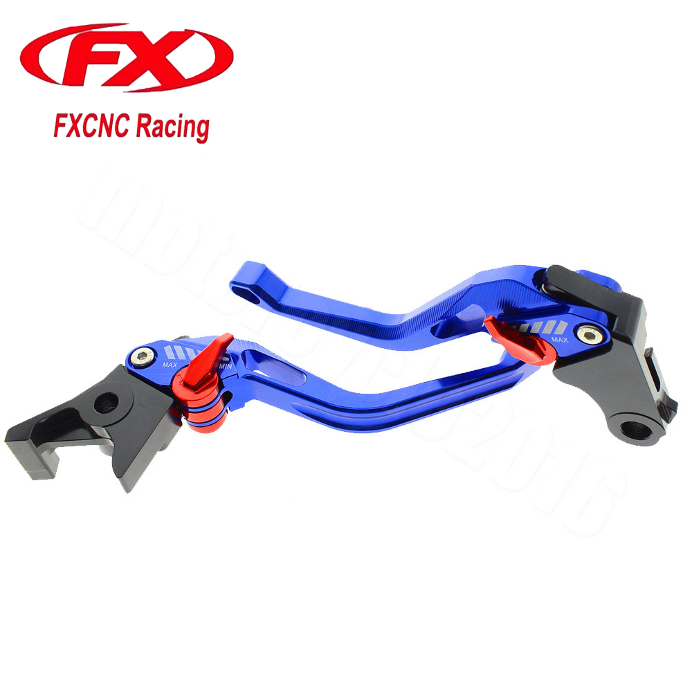 FXCNC 3D New Rhombus Motorcycle Adjustable Brake Clutch Levers For Yamaha FZ6 FAZER 2004-2010 2005 2006 2007 2008 2009 Moto aftermarket free shipping motorcycle parts eliminator tidy tail for 2006 2007 2008 fz6 fazer 2007 2008b lack