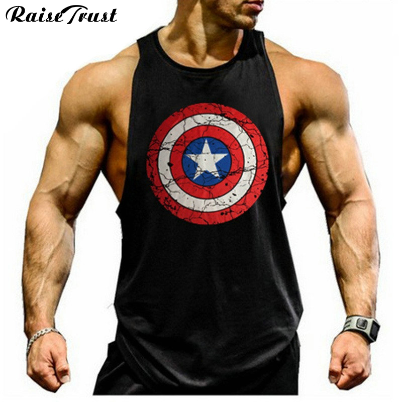 2019 Superman gyms vest  cotton tank top bodybuilding and fitness clothing muscle top men Sleeveless topscolete  undershirt vest