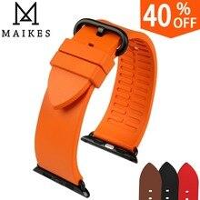 עבור אפל שעון להקת 44mm 40mm 42mm 38mm, fluoro גומי אפל שעון רצועת עבור אפל שעון כל מודלים iWatch ספורט Watchbands
