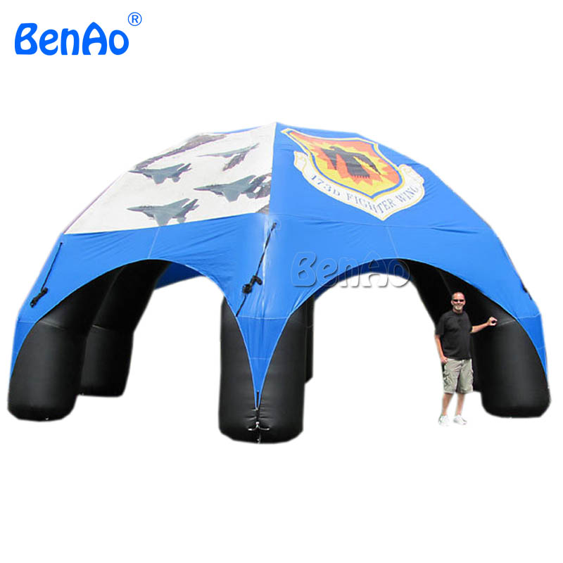 T039 Custom logo inflatable advertising spider dome tent, outdoor advertising inflatable spider tent for advertising and sale outdoor and indoor giant inflatable advertising shape santa claus christmas gift decoration for sale