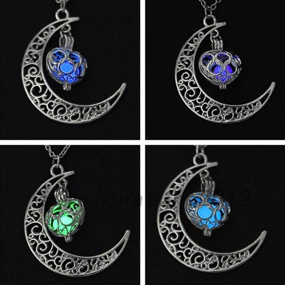 AILEND 2018 Новое светящееся ожерелье, подвеска с драгоценным камнем ювелирные изделия, посеребренные, подарки на Хэллоуин