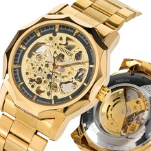 Mechanical Watch Top Brand Luxury Men Watch Automatic Self-Wind Fashion Golden Skeleton Clock Male Casual relojes hombre big dial top luxury brand automatic mechanical watch men s sports self wind wrist watch leather strap fashion clock male new