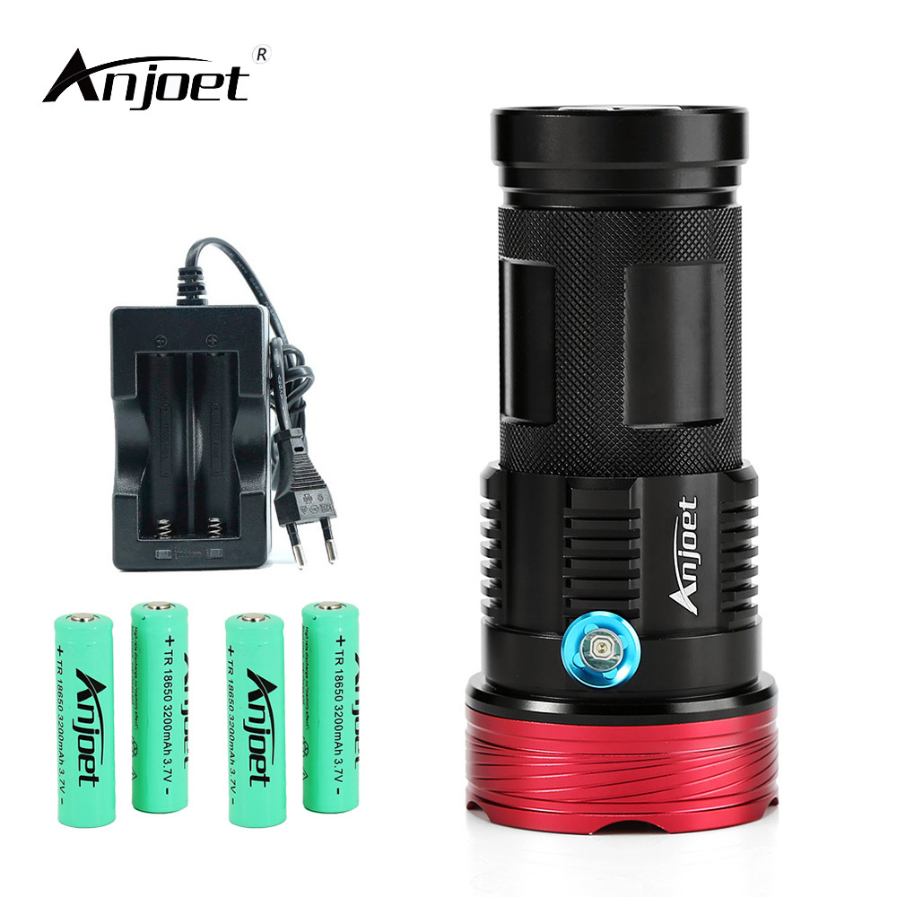 Led Lighting Charger Ideal Gift For All Occasions Anjoet Led Flashlights 20000 Lumens Powerful Torch King 9/10/11*xm-l T6 Tactical Hunting Torch For 18650 Battery Led Flashlights