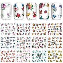 12 sheets flower brid design Nail Art Water Transfer decals NAIL STICKER SLIDER TATTOO Nail Accessories beauty tools A229240