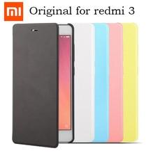 100% étui à rabat Original pour xiaomi redmi 3 étui de protection Flip sabic couverture en cuir mat pour xiaomi redmi 3 véritable