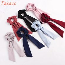 FASACC Scrunchies Hair woman Elastic Rubber Band Girl Rope Tie Gum Turban Headwrap Korea Fashion Accessories For Women