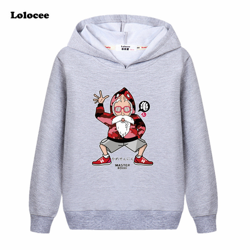 2018 Spring Boys Dragon Ball Z DBZ Sweatshirt Harajuku Hooded t shirt Girls Kids Long Sleeve Hoodie kong fu Tops Blue Shirt