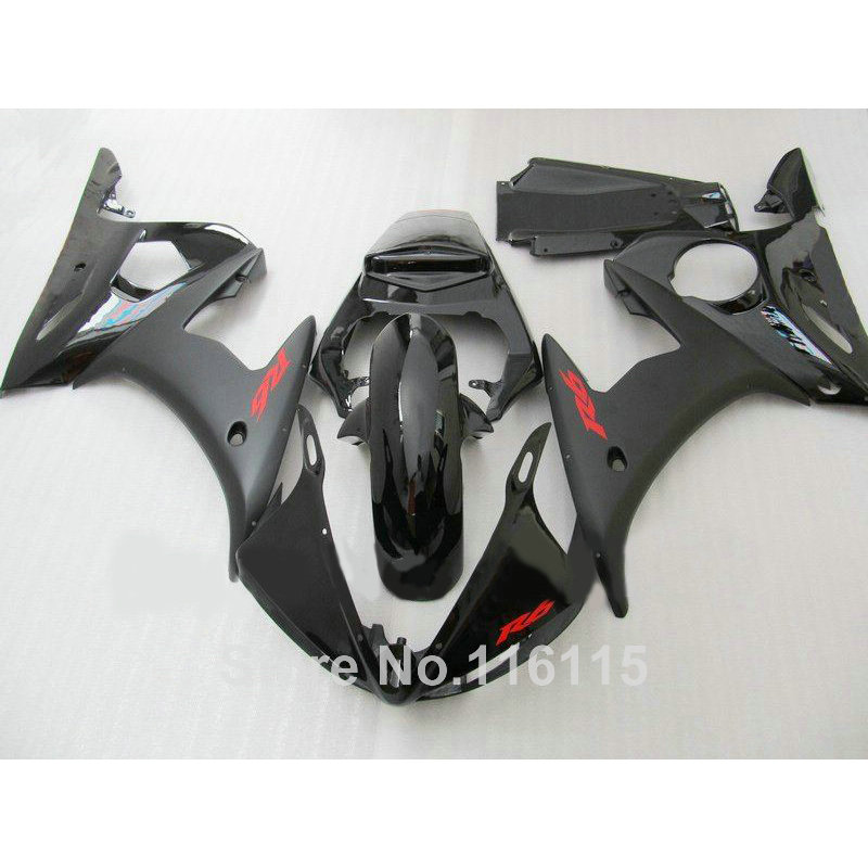 ABS motorcycle fairings set for YAMAHA R6 2003 2004 2005 all black fairing kit YZF R6 03 04 05 C1Z7
