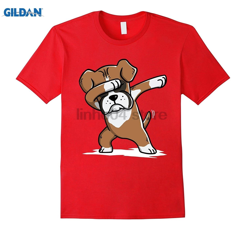 GILDAN Boxer Cute Dabbing T-Shirt Funny Dab Dance Gift Shirt Womens T-shirt Hot Womens T ...
