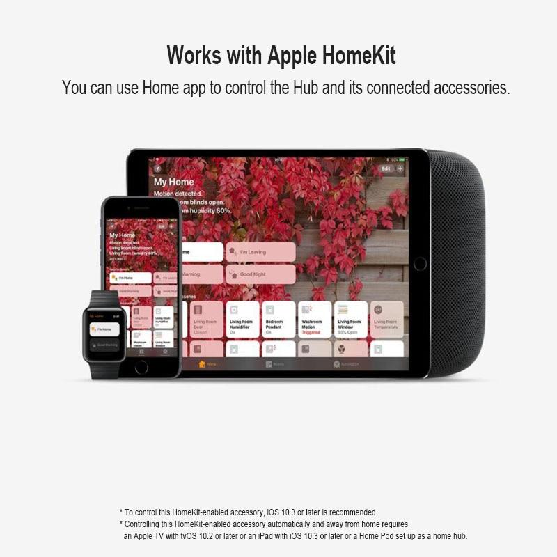 Image 5 - Original Xiaomi Mijia Aqara Hub , Mi Hub  with RGB Led night light Smart work with For Apple Homekit and aqara smart App-in Smart Remote Control from Consumer Electronics