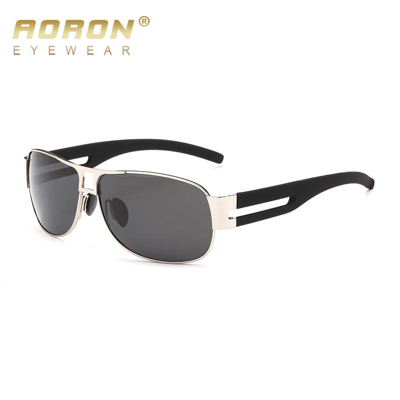 AORON Brand Polarized Sunglasses Men's classes Designer Goggles Latest HD Vision Eyeglasses Stainless Steel Extra Wide Legs