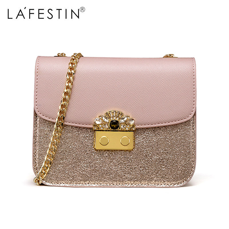 LAFESTIN Women Bag Shoulder Bag Chain Strap Rhinestone Crossbody Bags Female  Lady Brand Designer Flap Bags-in Shoulder Bags from Luggage   Bags on ... 852fa086a91b