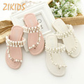 Bohemia Bead Toe Sandals Slippers Beaded Princess Flat Baby Girl Shoes Casual Slid Slip-On Roman Flip Flops Beach Sandal Hot