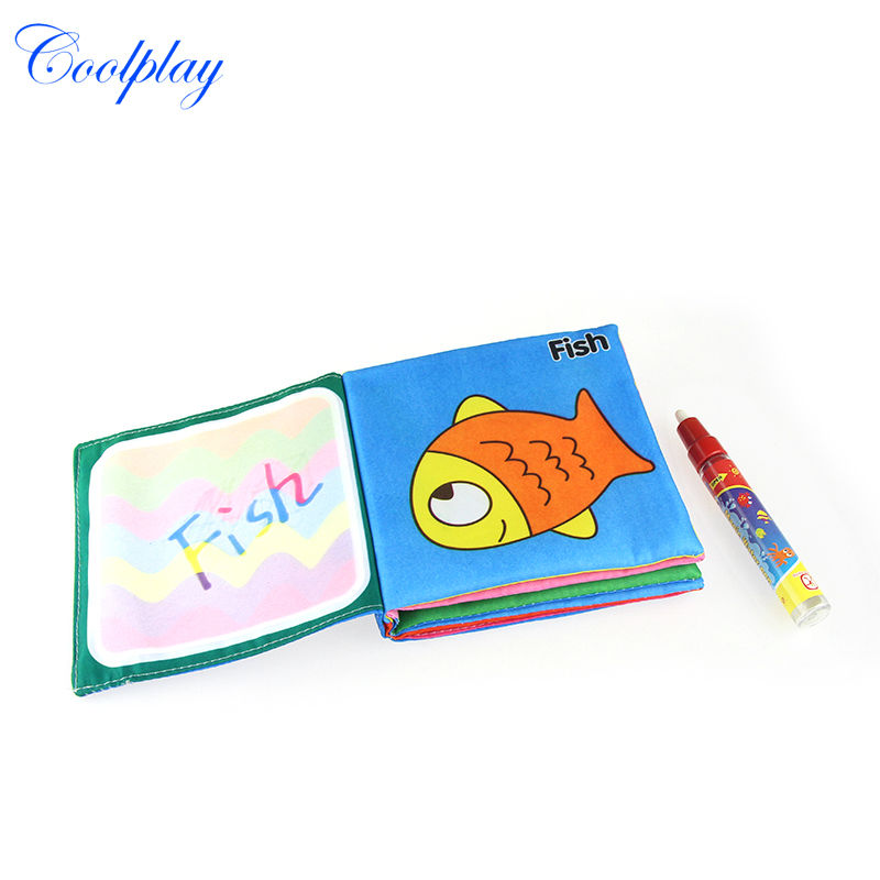 coolplay cp1353 drawing toys water drawing cloth book with 1 magic pendrawing book doodle matwater painting rug for kids - Kids Paint Book